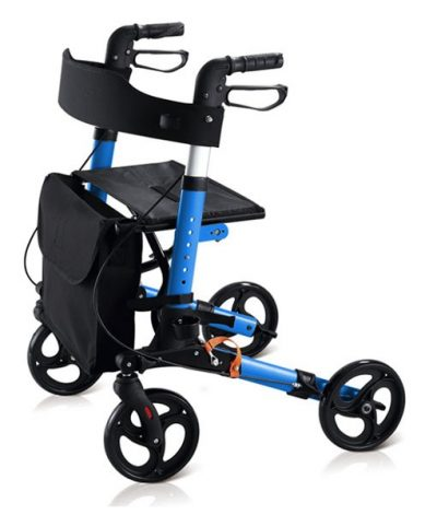 Travel Lite Portable Outdoor Seat Walker with Seat and Bag + Crutch Holder