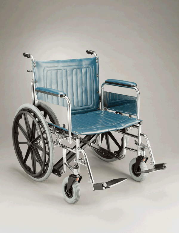 Heavy Duty Wheelchair 50CM SEAT DEPTH 155KG