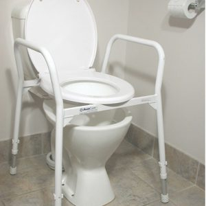 Over Toilet Aid Hero & Lid - Aluminium