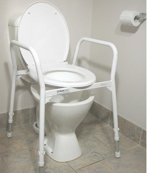 Over Toilet Aid Hero & Lid - Aluminium