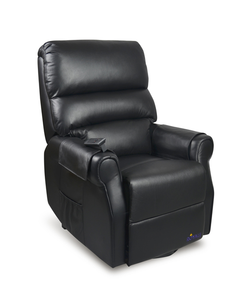 Lift Chair Electric Luxury Mayfair Twin Motor Leather Black