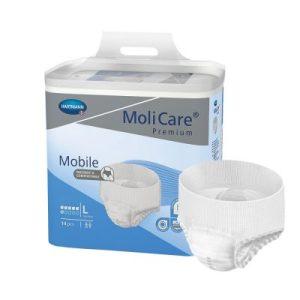 Molicare Premium Mobile 6 Drops Large, Extra 1963ml 100cm x150cm Pk14