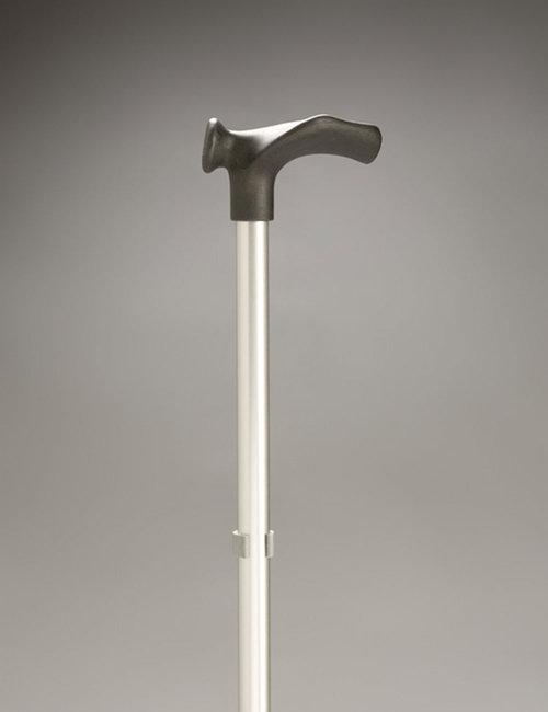 """Walking Stick Adjustable Rehab"""" Moulded Handle left hand"""