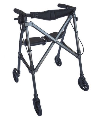 Space Saver Rollator Walnut Black